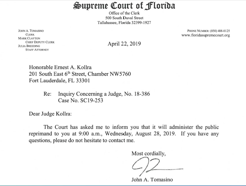 Two More Broward Judges Ordered To Appear Before Florida Supreme Court Ernest Kollra